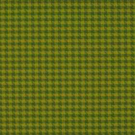 Corbier CS - Green - Kiwi green and forest green coloured fabric made from 100% Trevira CS with a small houndstooth pattern