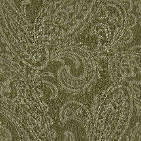 Camden 140cm - Grey2 - Dark and light grey making up a large, detailed paisley print pattern on fabric with a blended linen and polyester cont