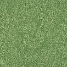 Camden - Green (6) - Two similar shades of jade green making up a subtle paisley print design on fabric blended from linen and polyester