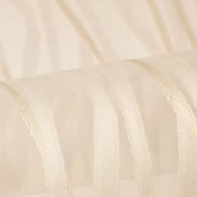 Belmont - White (1) - Pearlescent coloured stripes very subtly patterning pinkish white coloured fabric made from 100% polyester