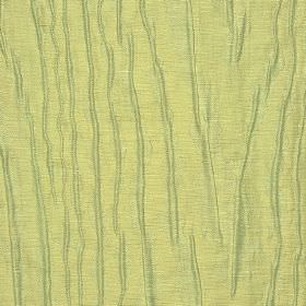Harmood - Cream (1) - Rough, uneven, random, patchily printed lines in pale green-grey on light cream-yellow linen and polyester blend fabri