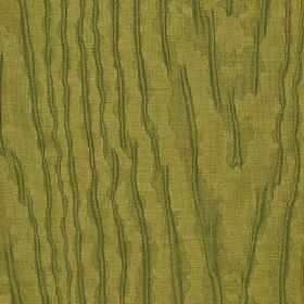 Harmood 132cm - Brown - Linen and polyester blend fabric in green-gold with a random, rough design of patchily printed Army green coloured l