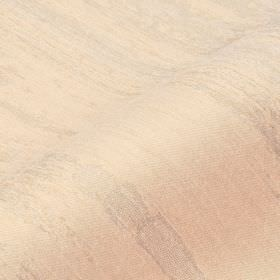 Rock - Cream (2) - Very subtle stripes running across cotton, linen and polyester blend fabric in pale shades of pink and grey