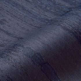 Rock - Blue Purple (9) - Rich navy blue coloured fabric with rough, uneven, patchy streaked stripes, made from cotton, linen and polyester