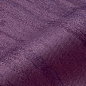 Rock 306cm - Purple - Royal purple coloured cotton, linen & polyester blend fabric featuring a streaked stripe effect which is patchy & roug