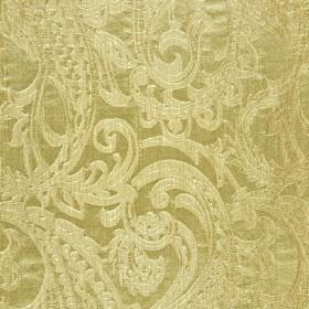Adelaide - Brown (4) - Detailed cream coloured paisley shapes on a creamy beige coloured 100% polyester fabric background