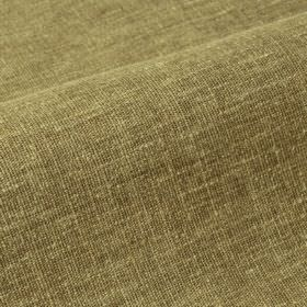 Ragga 292cm - Green - Fabric blended from linen and polyester in bronw-green, with some cream coloured threads showing through
