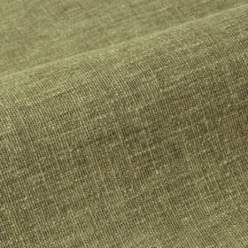 Ragga - Green (11) - Linen and polyester blend fabric made using off-white and grey-green coloured threads