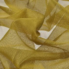 Buccari CS - Gold (6) - Gold coloured 100% Trevira CS net fabric