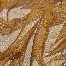 Buccari CS - Orange (7) - Bronze coloured fabric made from 100% Trevira CS with a net style