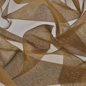 Buccari CS - Brown (8) - Net fabric made from chocolate brown coloured 100% Trevira CS