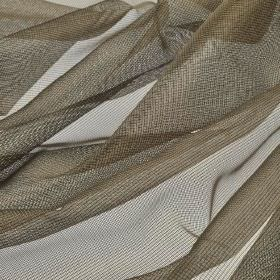 Buccari CS - Dark Brown (10) - Brown-grey coloured net fabric made from 100% Trevira CS