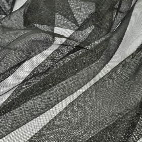 Buccari CS - Black (11) - Net fabric made entirely from Trevira CS in a dark charcoal colour