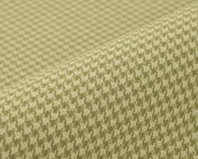 Orelle CS - Beige (2) - Cream and grey-brown coloured houndstooth patterns covering fabric made entirely from Trevira CS