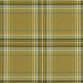 Courchevel CS - Brown Blue (1) - Checked 100% Trevira CS fabric featuring colours such as khaki, cream, off-white, light blue, Army green, g