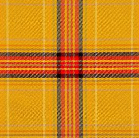 Courchevel CS - Yellow (4) - Pumpkin coloured 100% Trevira CS fabric with a checked pattern in black, bright orange, light grey and yellow s