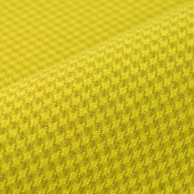 Orelle CS - Yellow (4) - Bright mustard yellow and golden brown coloured 100% Trevira CS fabric covered with a houndstooth pattern