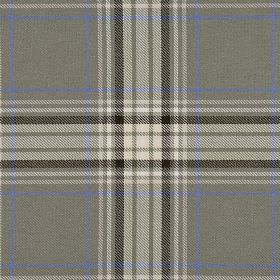 Courchevel CS - Grey (8) - Cobalt blue, white and various shades of grey making up a checked pattern on fabric made from 100% Trevira CS