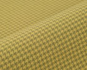 Orelle CS - Orange - Fabric made from houndstooth patterned 100% Trevira CS with a design in golden yellow and light grey