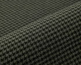 Orelle CS - Black - 100% Trevira CS fabric covered with a small black and grey coloured houndstooth pattern