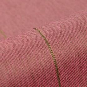 Odeon - Pink (2) - Fabric woven from light pink-grey coloured polyester and viscose, featuring intermittently spaced thin beige lines