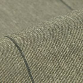 Odeon - Grey (3) - Light grey polyester and viscose woven together into a fabric patterned with a thin line in dark grey