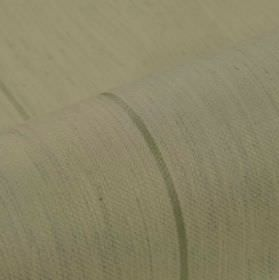 Odeon - Cream (5) - A very subtle dove grey coloured line running across polyester and viscose blend fabric in a pale shade of grey