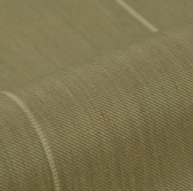 Odeon 305cm - Beige - Grey fabric made from polyester and viscose, featuring a widely spaced line pattern in off-white