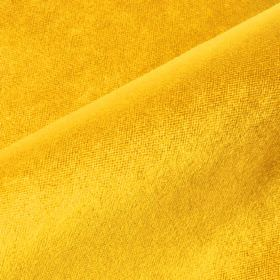 Argento - Yellow - Plain fabric made from cotton, polyester and viscose in a vivid sunflower yellow colour