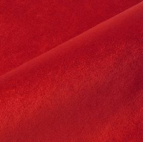 Argento - Dark Red - Fabric made from plain cotton, polyester and viscose in a bright pillarbox red colour