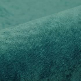 Argento - Teal - Very slightly textured dusky blue coloured cotton, polyester and viscose blend fabric