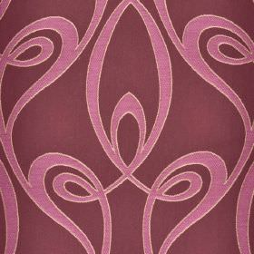 Lazare - Purple Pink (1) - Pale purple swirls printed on a dusky purple coloured cotton and viscose blend fabric background
