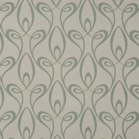 Lazare - Grey (3) - Elegant dove grey coloured swirls repeatedly printed over a background of cotton and viscose blend fabric in a paler shade