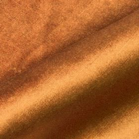 Arena - Orange Brown - Copper coloured cotton, modal and polyester blend fabric