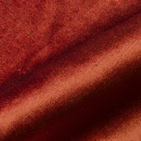 Arena - Red Brown (15) - Slightly shiny brick red coloured fabric made from a blend of cotton, modal and polyester