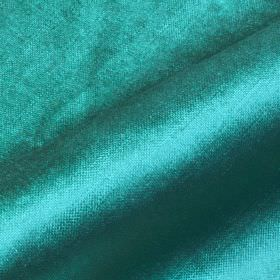 Arena - Blue (32) - Bright, shiny, turquoise coloured fabric made from cotton, modal and polyester