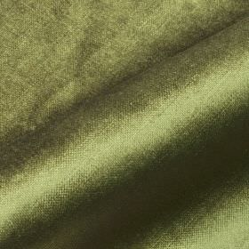 Arena - Green4 - Olive green coloured cotton, modal and polyester blend fabric made with a slight sheen