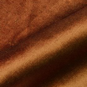 Arena - Brown6 - Russet coloured cotton, modal and poylester blend fabric