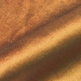 Arena - Orange1 - A subtle sheen covering bronze coloured cotton, modal and polyester blend fabric