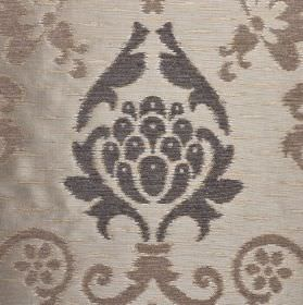 Arama - Beige Grey (3) - Three different shades of grey making up an ornate pattern on fabric made from polyester, viscose and viscose-cheni