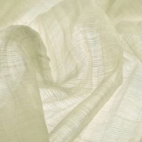 Macas CS - Cream (2) - Off-white coloured 100% Trevira CS fabric featuring a translucent, subtly striped finish
