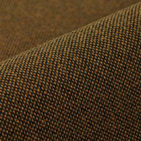 Popping CS - Orange Brown (11) - Fabric woven from 100% Trevira CS in dark shades of brown, grey and gold
