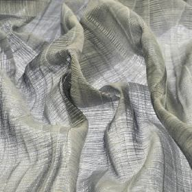 Macas CS - Grey - Translucent silver coloured fabric made from very subtly striped 100% Trevira CS
