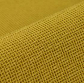 Popping CS - Dark Gold (13) - Fabric made from mustard yellow and dark gold coloured, small simple grid patterned 100% Trevira CS fabric