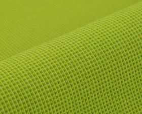 Popping CS - Apple Green - 100% Trevira CS fabric covered with a very small, simple grid pattern in grass and bright lime shades of green