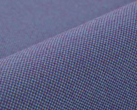 Popping CS - Purple Blue (17) - Royal blue, sky blue and purple coloured squares covering 100% Trevira CS fabric in a miniscule checkerboard