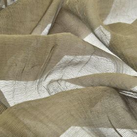 Calvas CS - Taupe (4) - Net style 100% Trevira CS fabric made in a flat shade of concrete grey