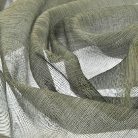 Calvas CS - Grey (6) - Mid- and light shades of grey woven together into a translucent net-style 100% Trevira CS fabric