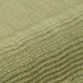 Flow CS - Beige - Thin, wavy lines creating a subtle, slightly raised, textured pattern on beige-grey fabric made from 100% Trevira CS