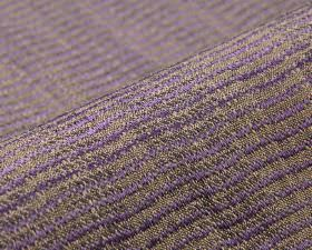 Flow CS - Purple - Lilac and light grey wavy lines running down fabric made from 100% Trevira CS with a slightly raised, textured pattern